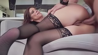 Mommy rides her son's dick like a fuck goddess