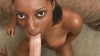 Ebony Girl And White Cock 1