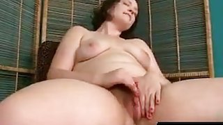 dawn rubs her sweet wet hairy pussy and creams