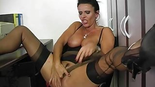 Amazing Solo Girl movie with MILFs,Office scenes