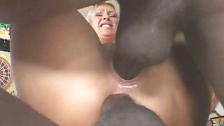BBC double penetration Golden-Haired Wench