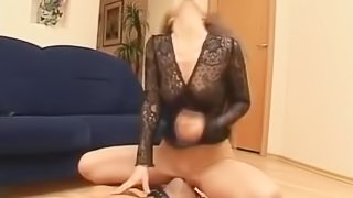 Brutal facesitting russian mistress