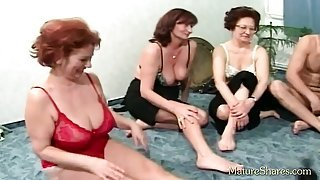 Mature couples plays spin the sex bottle