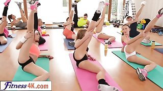 Follow yoga class with these petite babes.