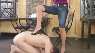 Russian Mistress Mary dominates in restuarant