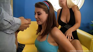 Babysitter Brooke Screwed Hard by Pair