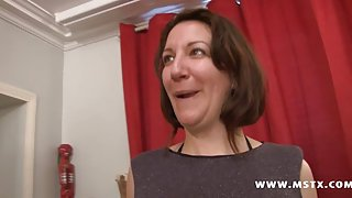 French mom in a Gang Bang fantasy