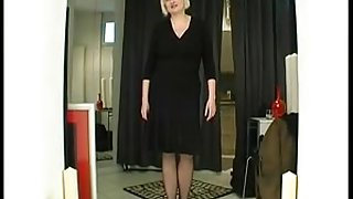 Big Titty french blondie milf with two guys