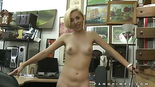 Teen cutie sells her body to pawn shop